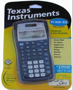 Texas Instruments calculator is a must have to do well in math! #eBaySchool