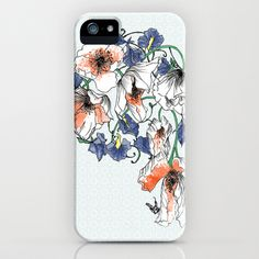 Poppys+and+Sweetpeas+iPhone+&+iPod+Case+by+Esther+Pallett+-+$35.00