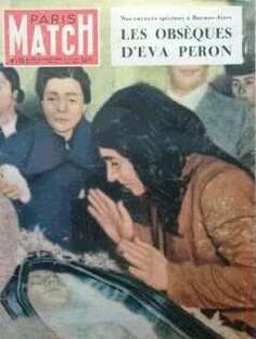 EVA PERON EN PARIS MATCH