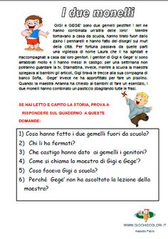 Italian Language, Home Schooling, Kids And Parenting, Anatomy, Preschool, Dads, Education, Learning, Quiz