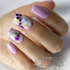 Violet Nails, Painted Nail Art, Love Nails, Nail Designs, My Favorite Things, Nailart, Beautiful, Vestidos, Community