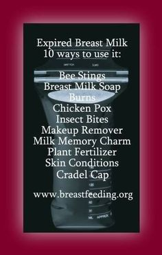 10 ways to use expired #breastmilk