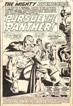 Avengers #74 Page 1 (John Buscema / Tom Palmer) (1970) Comic Art