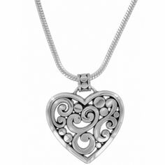 Seems like a person should get sick and tired of all the hearts...Uhhhh NO!!...keep em coming!! Contempo Heart Necklace  available at #Brighton #winourhearts
