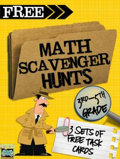 FREE Math Scavenger Hunts (3rd-5th grade). Get your students moving during math by using math scavenger hunts!