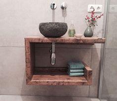 Badezimmermöbel Badschränke - Waschtisch Gäste-WC Waschbeckenschrank - ein Designerstück von ausliebezumholz_berlin bei DaWanda