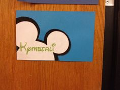 Disney Channel themed door decs. Made by RA Kymberli Conger, WSU.