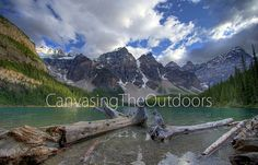 Moraine Lake Canvas Wall Art Banff by CanvasingtheOutdoors on Etsy