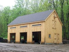 Colonial Style Post and Beam Barn Kit - Barn Building Kits - Timber Frame Plans