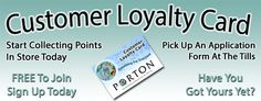 Loyalty cards now available