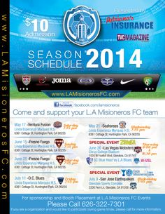 The 2014 #PDL season schedule is ready for the Misioneros