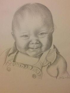 Portrait of Ava, my beautiful granddaughter.