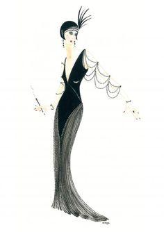 Art Deco Lady - Josephine Canvas Print / Canvas Art by Di Kaye