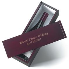 Personalized Wine Gift Box Perfect gifts for your wedding party at your wine-themed wedding. Solid wood box with engraving makes a beautiful keepsake to commemorate your special day. Each 13 4 4 wooden box holds a standard bottle of wine. Personalized Anniversary Gifts, Personalized Wedding Favors, Personalised Box, Personalized Wedding Gifts, Engraved Gifts, Wine Gift Boxes, Wine Gifts, Engraved Wine Bottles, Gifts For Wedding Party