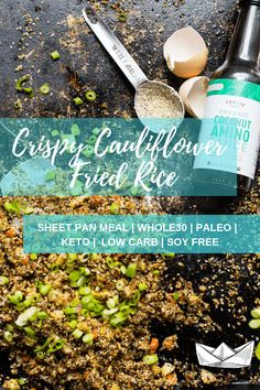 This delicious and easy fried rice recipe is made with cauliflower rice and hemp seeds. A simple, healthy and low carb takeout fakeout the entire family will love! #whole30 #paleo #keto Paleo Cauliflower Fried Rice, Paleo Rice, Cauli Rice, Cauliflower Recipes, Dairy Free Keto Recipes, Gluten Free, Healthy Recipes, Arroz Frito, Plant Paradox