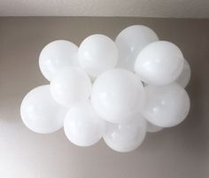 This floating Cloud Balloon kit is a DIY project with everything you need to create this dreamy floating sky. Create unlimited projects to fit many different party themes! Hot Air Balloon, you are my sunshine, rainbow, unicorn, sky, and more.