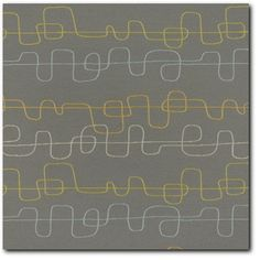 Momentum Wander Solstice Modern Retro Upholstery Fabric - Close Up