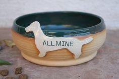 Dachshund Dog Bowl handmade ceramic dog by ManuelaMarinoCeramic