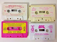 Barbie, Jem & My Pretty Ballerina Cassette Tapes   by sezzalicious