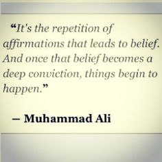REPETITION . Daily affirmations  --- so true, God is in the center of this. PDP