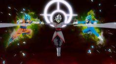Zamasu vs Goku y Vegeta