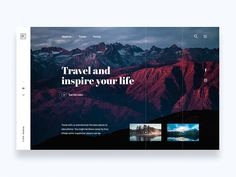 Roadtrips, travel and take photos - Daily UI Challenge 17/365 by Christian Vizcarra