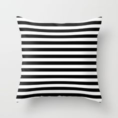 Buy Modern Black White Stripes Monochrome Pattern Throw Pillow by Girly Road. Worldwide shipping available at Society6.com. Just one of millions of high quality products available.