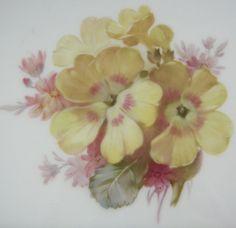 KPM Floral & Gold Plate #2