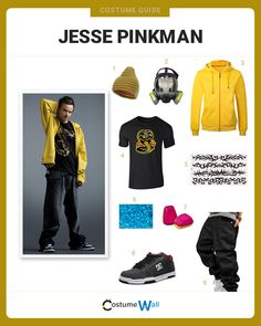 The best costume guide for dressing up Jesse Pinkman, the meth-dealing partner of Walter White from the AMC's hit TV show Breaking Bad.