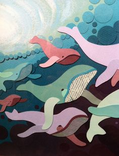 Paper humpbacked whales. Makes me think of Jessie...