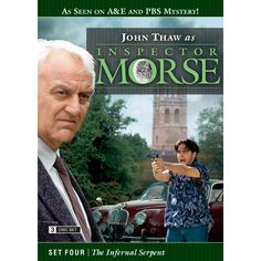 Inspector Morse Set Four The Infernal Serpent DVD he Wolvercote Tongue - A precious jewel is missing and Morse suspects foul play in the death of its owner. Stars Simon Callow and Kenneth Cranham .  Last Seen Wearing - When a privileged schoolgirl goes missing, Morse is convinced she has been murdered, even though there is no body. Stars Elizabeth Hurley and Peter McEnery .  The Settling of the Sun - Morse investigates the murder of a Japanese student in what seems to be a ritual killing…