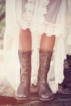 Free People Wedding Inspiration #boots