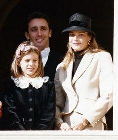 Princess Stephanie with Daniel Ducruet and a young Charlotte Casiraghi