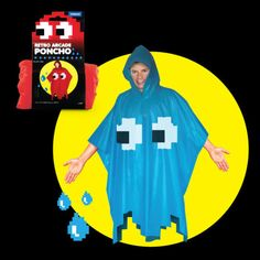 Pac-Man Ghost Poncho by from Spinning Hat ($8)