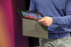 Keyboard on tablet from Microsoft.  http://www.facebook.com/brilliantsocialmedia