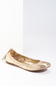 Need a good pair of gold flats that are comfortable.  Already own the silver reva TB ones