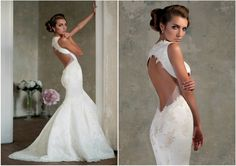 How to Show Off in a Sexy, Open Back Wedding Dress