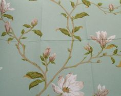Beautiful design! The Colefax and Fowler Marchwood pattern in aqua colour