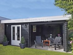 Lugano flat roof log cabins from Lugarde
