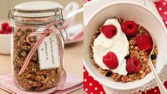 Must try this granola Real Food Recipes, Vegan Recipes, Yummy Food, Vegan Food, Muesli, Granola, Something Sweet, What To Cook, Homemade Gifts