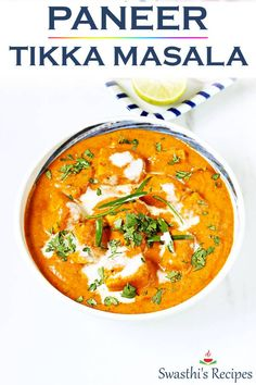 Paneer tikka masala is a popular dish of grilled paneer in spicy onion tomato gravy. Learn how to make resaturant style paneer tikka masala at home. Indian Paneer Recipes, Paneer Tikka Masala Recipe, Indian Food Recipes, Indian Desserts, Veg Breakfast Recipes Indian, Curry Recipes, Beef Recipes, Vegetarian Recipes, Cooking Recipes