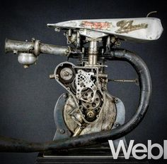 "1,392 Likes, 18 Comments - Paul d'Orléans (@thevintagent) on Instagram: ""Not Photoshop! It's a Burt Munro Velocette MSS engine, tuned for speed - 142mph actually. Burt…"""