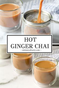 Ready in under 10 minutes, this 4 ingredient ginger tea is lightly sweetened with a spicy kick of fresh ginger and a dash of milk. Curry Recipes, Veggie Recipes, Cooking Recipes, Ginger Tea Recipes, Healthy Recipes, Veggie Food, Cooking Tips, Salad Recipes, Healthy Food