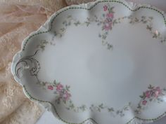 Antique Rosenthal Versailles Large Pink Blue by thechinagirl