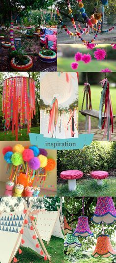Moline-Mercerie-Fiesta-Garden-Party: wedding diy hippie part Hippie Party, Ibiza Party, Blog Couture, Crafts For Kids, Diy Crafts, Mexican Party, Garden Parties, Festival Party, Party Planning