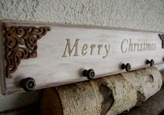 Shabby Christmas Stocking Hanger Stocking Holder by ForesteDiOro