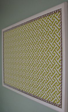 easy fabric covered bulletin board DIY for class