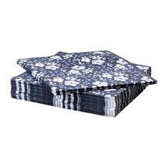 ENFALDIG Guardanapo de papel IKEA O guardanapo com folha tripla tem uma boa capacidade de absorção.