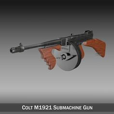 Colt Model1921 Thompson Submachine Gun 3D Model- Originally modelled in cinema4D. Detailed enough for close-up renders. The zip-file contains bodypaint textures and standard materials.    Features:  - Inside scene: -model - 7 textures - 4 bumpmaps  - All materials, bodypaint-textures and textures are included.  - No cleaning up necessary, just drop your models into the scene and start rendering.  - No special plugin needed to open scene.    - Phong shading interpolation / Smoothing - 35°…