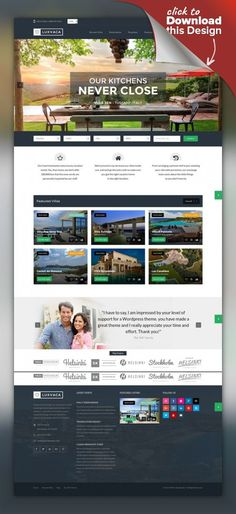 Buy Real Estate 7 WordPress by contempoinc on ThemeForest. WP Pro Real Estate 7 – Responsive Real Estate WordPress Theme The last real estate WordPress theme you'll ever need . Web Design Tools, Site Design, Web Portfolio, Printed Portfolio, Professional Wordpress Themes, Web Colors, Web Design Inspiration, Design Ideas, Selling Real Estate